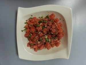 watermelon salad with seeds